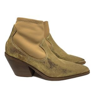 Free People Jackson West Gold Ankle Boots Size 37
